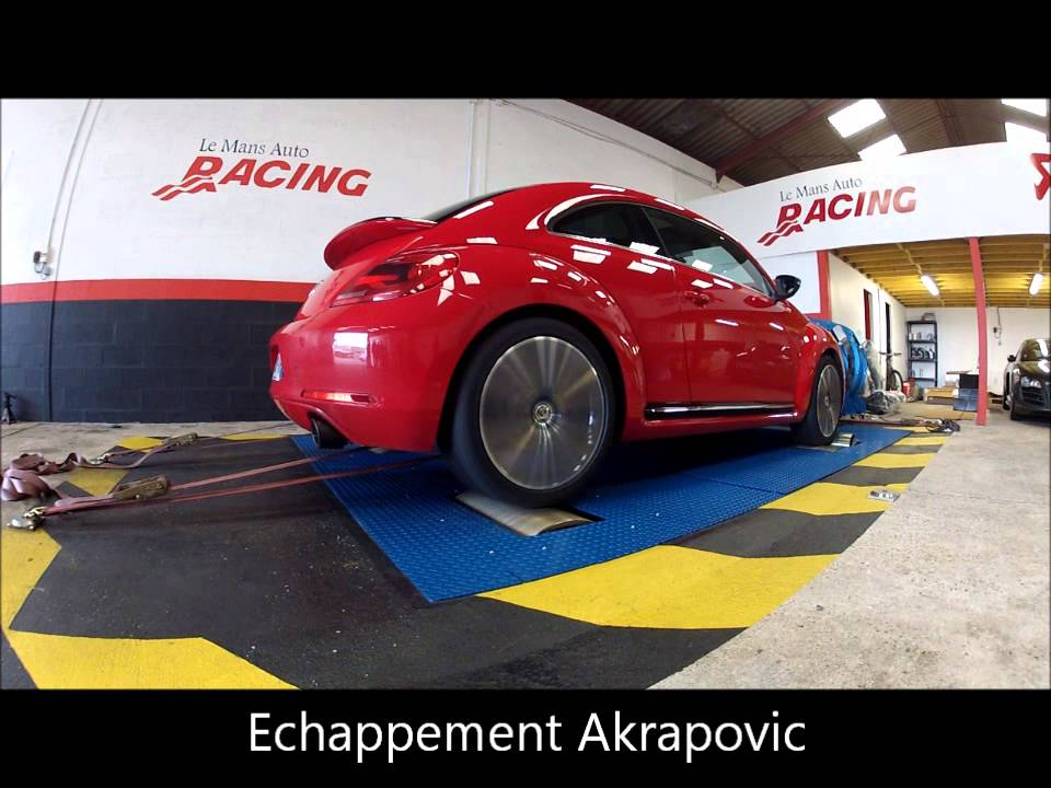le mans auto racing vw coccinelle 2 0 tsi 200 ch with akrapovic exhaust youtube. Black Bedroom Furniture Sets. Home Design Ideas