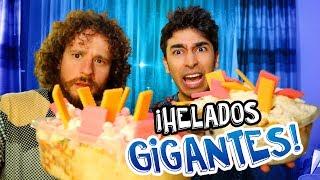 RETO DE HELADOS GIGANTES (con Luisito Comunica)