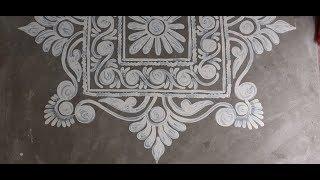 Square Shape Alpona Design\ Deepika Das