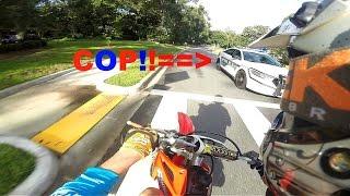 Dirt Bike Runs From Police Chopper!!!