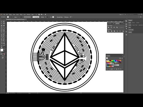 How To Create Ethereum Cryptocurrency Coin | Adobe Illustrator | After Effects  | Time-lapse