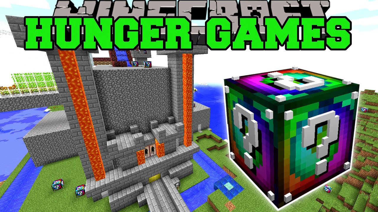 Minecraft POPULARMMOS CASTLE HUNGER GAMES Lucky Block Mod Modded Mini Game YouTube