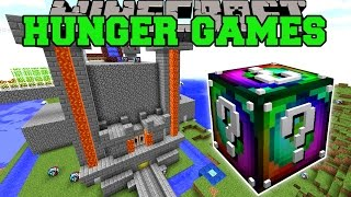 Minecraft: Popularmmos Castle Hunger Games   Lucky Block Mod   Modded Mini Game