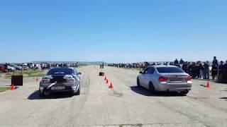 Opel calibra c20let RWD vs BMW 335d stage 3 (Hybrid Turbo)