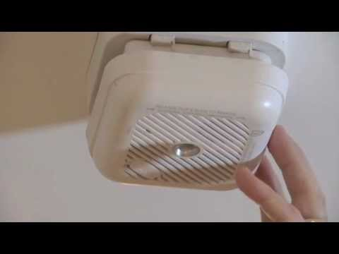 How To Change The Battery In A Smoke Detector Youtube