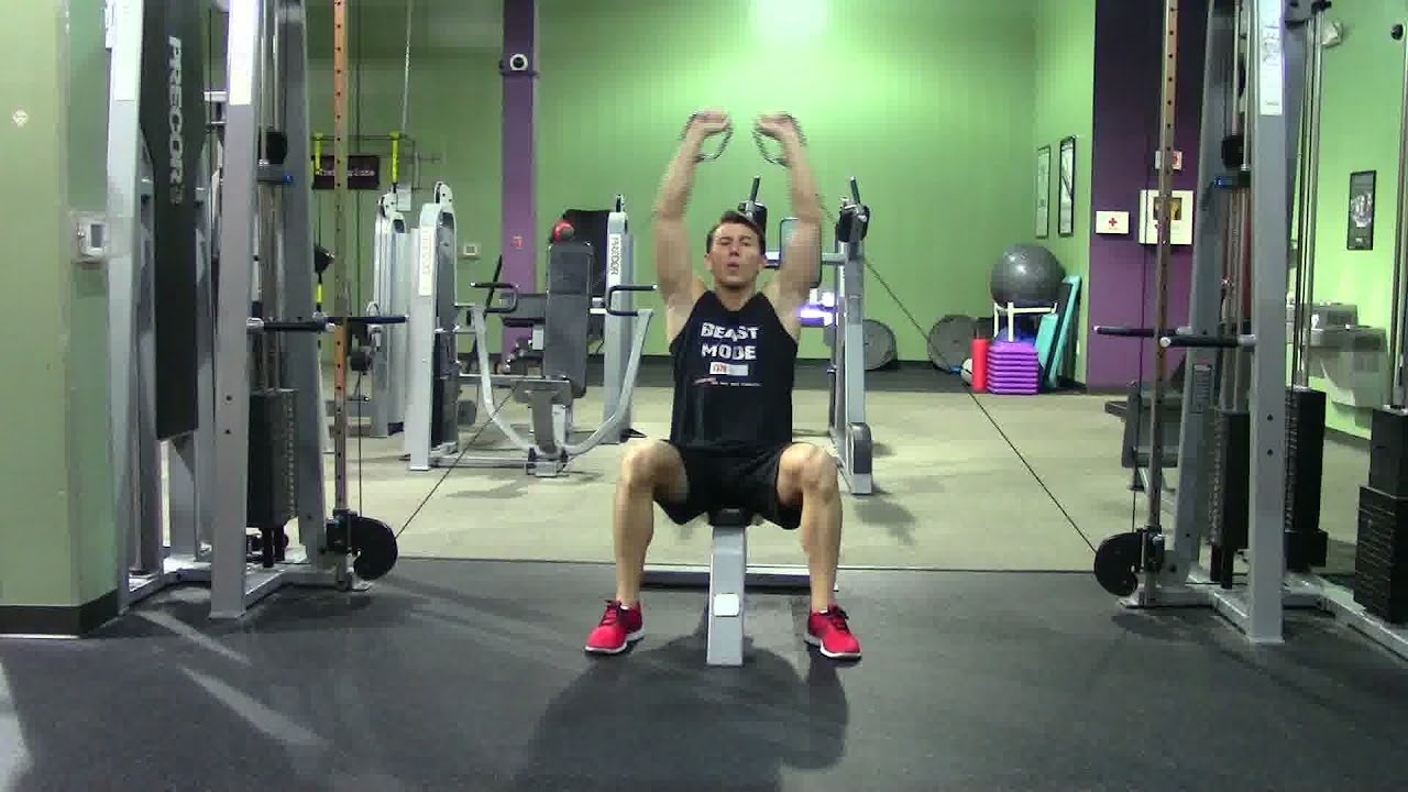 chair exercises on cable tv metal lounge with wheels seated military press or shoulder
