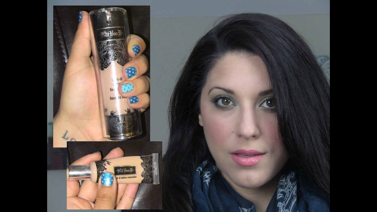 Kat von d lock it tattoo foundation concealer first for Tattoo cover up foundation