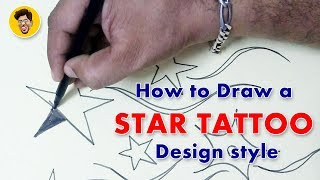 How to Draw a star Tattoo Design style l NISAR