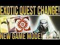Destiny 2. EXOTIC QUEST CHANGE & NERFS! Big Teaser, Masterwork Economy, New Game Mode & New Maps!