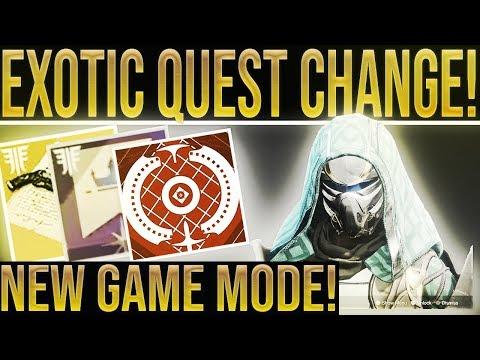 Destiny 2. EXOTIC QUEST CHANGE & NERFS! Big Teaser, Masterwork Economy, New Game Mode & New Maps! thumbnail