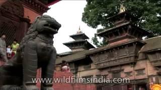 Hanuman statue, Hanuman Dhoka, Kathmandu,Nepal