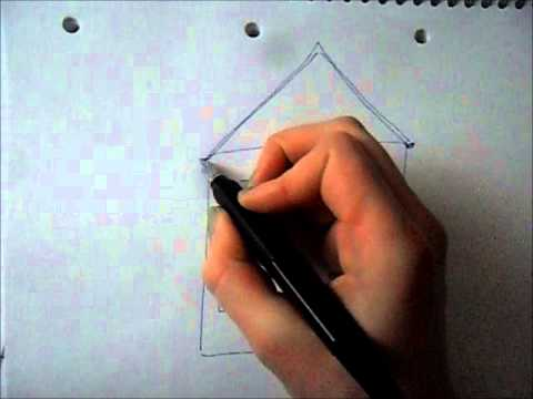 ein haus zeichnen teil 1 drawing a house part 1 youtube. Black Bedroom Furniture Sets. Home Design Ideas