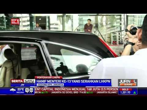 Menaker Hanif Dhakiri Serahkan LHKPN ke KPK