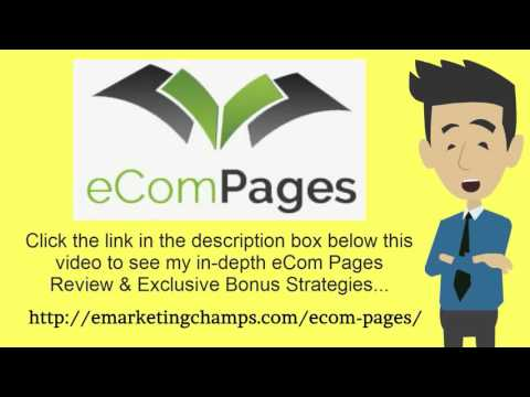 [eCom Pages Review] Honest Review & Bonus Strategies: (eCom Pages Review) See honest review of eComPages, learn how it works & discover BONUS strategies:  http://emarketingchamps.com/ecom-pages/  --------  Proven Marketing Stratetegies For E-commerce Companies  You may have launched a brand new online shop but you have no idea how you will promote it, so you look up a good eCom Pages Review site for help.  It will do you good to know that it is not such a hard job. As long as you follow the following market strategies, you will be on your way to success.   First off is content marketing and compiling your eCom Pages bonus. This is a process that involves the production of photos, videos, blog articles and info graphics to appeal to a target audience. For this strategy, there is no financial cost. The main cost is that it take lots of time, thus you will need to put a lot of effort into the strategy.   Another strategy that can be of great help to you is mailing lists as described on eComPages Review sites. Email marketing is a very powerful tool when it comes to online marketing. You need to ensure that you capture email addresses of visitors to your website even if they do not buy from you.   If you intend on being successful in online marketing, then you will have to learn the art of social media. If you do it just right, social media has the ability to make a very large impact on your sales in general. It not only gives you access to lots of people, but it can also link you to a specific target audience. It is easy and convenient to use making it a very good choice especially if yours is a new business.   If the above stated strategies are not for you, then you can choose affiliate marketing. This is a process whereby you let other people market your products in return for a given percentage of sales. An affiliate network is a ready-made network of marketers that are looking for affiliate schemes. This is the best place to find affiliate marketers for your products.  eComPages Review - See honest review of eCom Pages, learn how it works & discover a unique eCom Pages Bonus: https://www.youtube.com/watch?v=oCvNLxnBnug