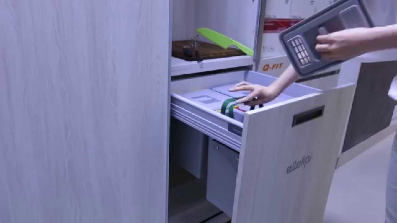 Blum Kitchen Bins Hutch Furniture 垃圾桶 義大利進口五金elletipi廚房抽屜分類垃圾桶 騰泰國際五金 Youtube Blum厨房垃圾箱
