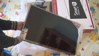 Unboxing and test of LG 32LB650V ZN Smart Cinema 3D TV