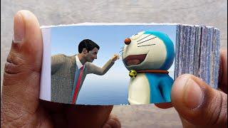 Mr. Bean Cartoon FlipBook #4   Angry Bean Killed Doraemon and Bean Flip Book   Flip Book Artist 2021