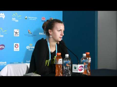 Petra Kvitova quarterfinals press conference Apia International Sydney 2012