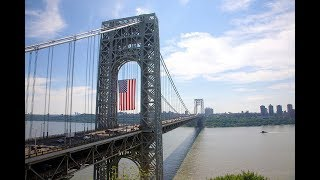 Truck Driving Thru George Washington Bridge-Inbound; From Fort Lee, NJ To The Bronx, NY