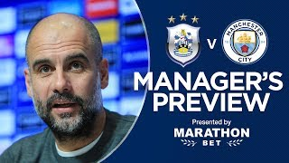 Pep Guardiola previews Huddersfield v Man City | PRESS CONFERENCE