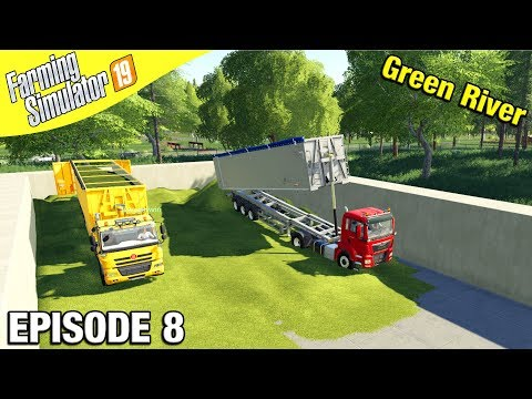 FILLING THE HUGE CLAMP Farming Simulator 19 - Green River with Daggerwin Ep 8 |