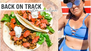 BACK ON TRACK AFTER VACAY 🌴 MEAL PREP & H‑E‑B GROCERY HAUL