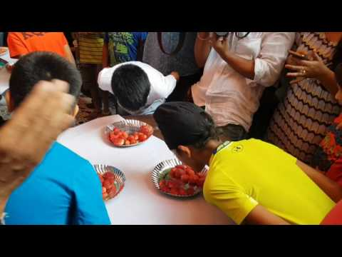 Mumbai's Strawberry Fest: Strawberry Eating Competition