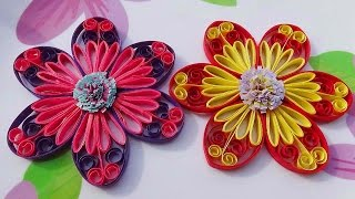 Quilling Made Easy # How to make Beautiful flower using - Paper Art Quilling