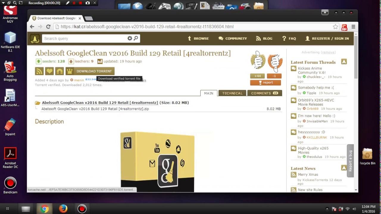 Cara Download Film, Aplikasi, Musik dan Lainnya di kickass.to atau kat