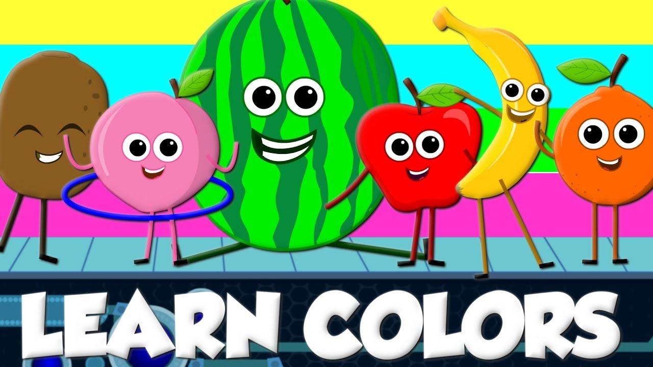 Learn Colors With Fruits | Song Nursery Rhymes For Kids by Kids tv ...