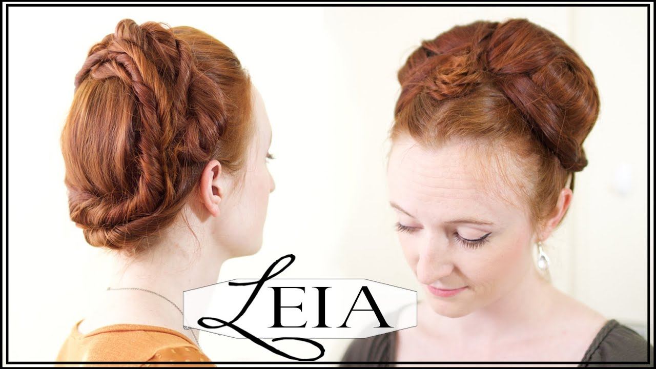 leia hair tutorial star wars
