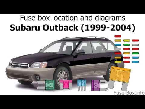 Fuse box location and diagrams Subaru Outback (1999-2004) - YouTube