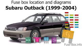 Fuse Box Location And Diagrams Subaru Outback Legacy 1999 2004 Youtube