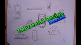 Industrial Design Mobile Phone Sketch - Product Drawing a waterproof Mobile Phone Sketching