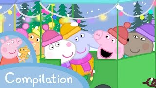 Peppa Pig Episodes - Winter compilation  Peppa Pig Official