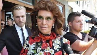 Napoli - Sophia Loren in città per l'evento di Dolce & Gabbana (07.07.16)