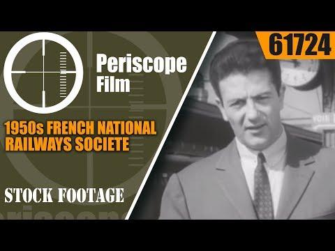 1950s FRENCH NATIONAL RAILWAYS  SOCIETE NATIONALE DES CHEMS DE FER FRANCIAS SNCF 61724