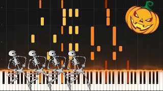 Spooky Scary Skeletons - Piano Synthesia Tutorial