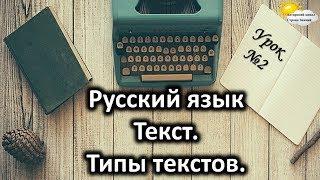 """Русский язык. Урок №2. Тема: """"Текст. Типы текстов"""""""