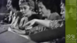 Телевизор КВН-49 с линзой, ПТС и Центральное тв СССР