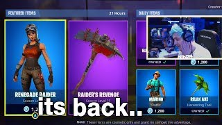 I Told Popular Fortnite Streamers Renegade Raider was Back in the Item Shop and this happened..