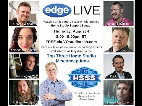 Edge Studio's HSSS Team on 3 Home VO Studio Misconceptions