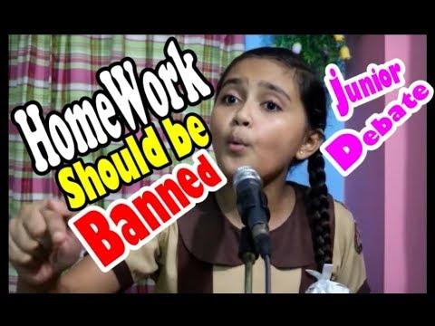 Top 10 Reasons Homework Should Be Banned >> Homework Should Be Banned Junior Debate Competition 2018 Preparatory Girls School Infinity Care