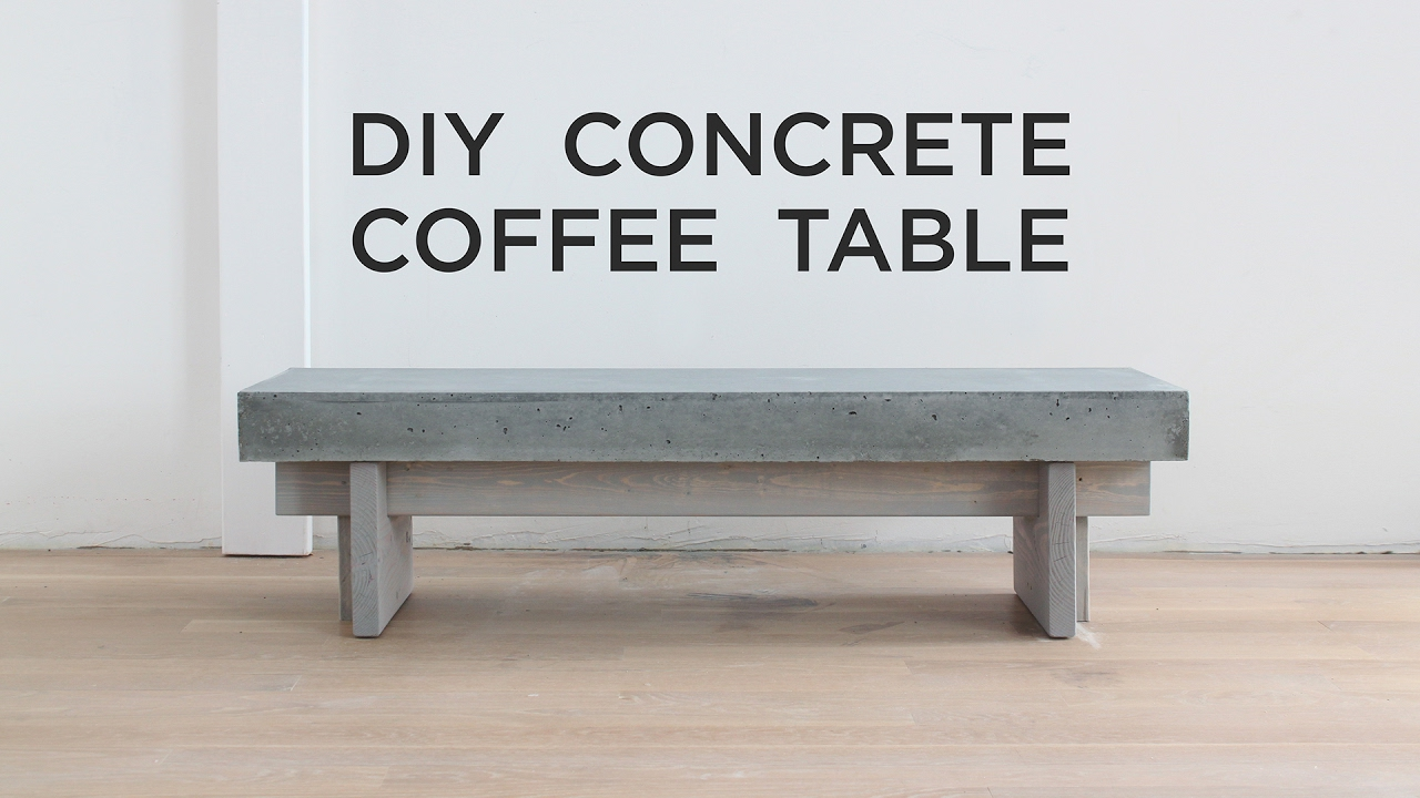concrete side table. DIY Coffee Table With A Concrete Top Side