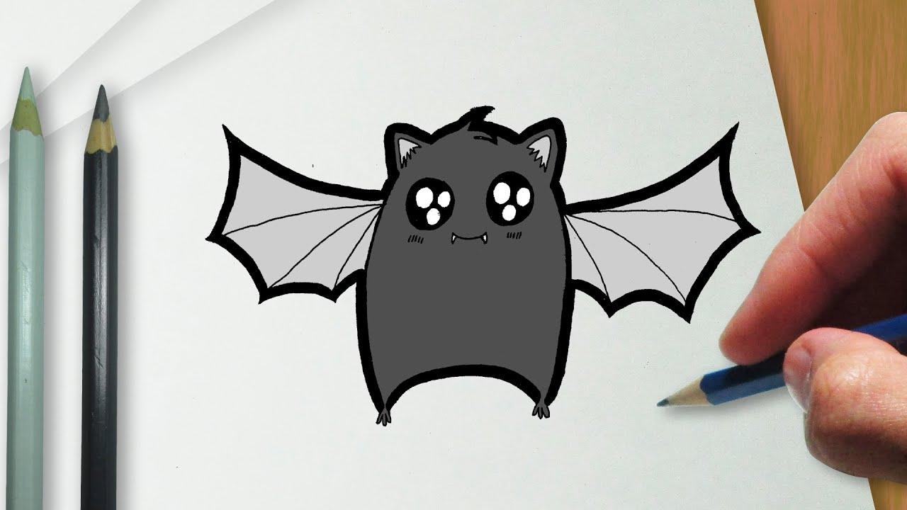 como desenhar um morcego kawaii youtube