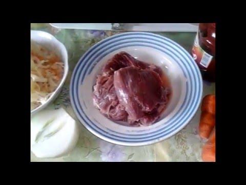 Тушеная с мясом капуста рецепт