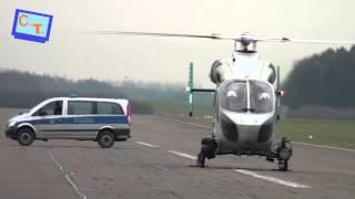 Landung & Abflug Polizeihubschrauber...
