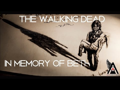 In memory of Beth-The Walking Dead | Soundtrack & Timelapse 3D drawing