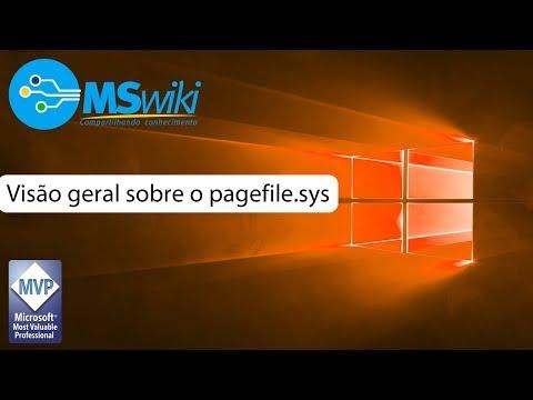 Visão geral sobre o arquivo pagefile.sys