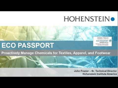 Hohenstein Webinar: Proactively Manage Chemicals For Textiles, Apparel, And Footwear